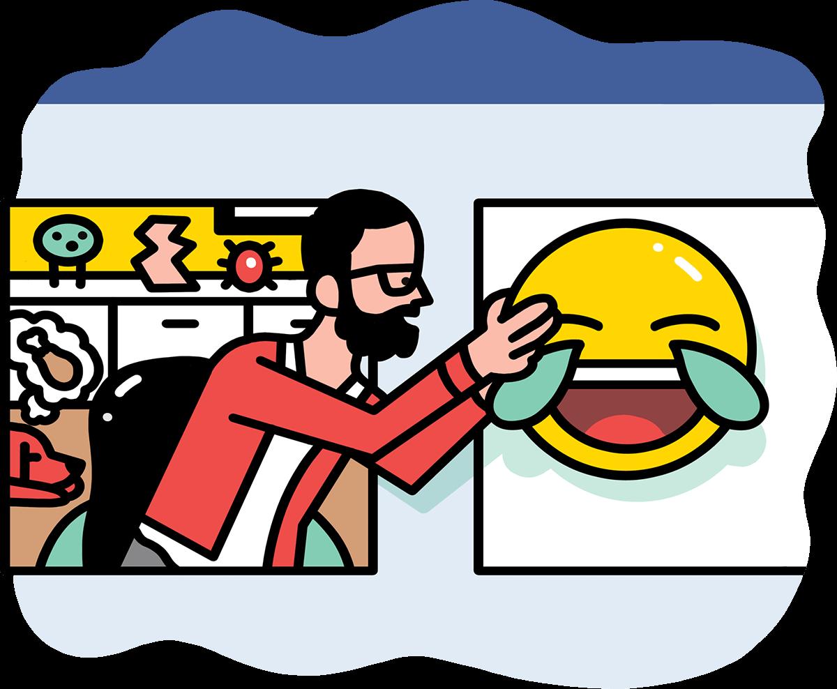 sharing facebook emoji on social media